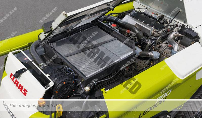 Claas Lexion 760 Montana. Serie Lexion 700 Montana lleno